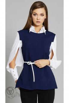 Жилет+блузка